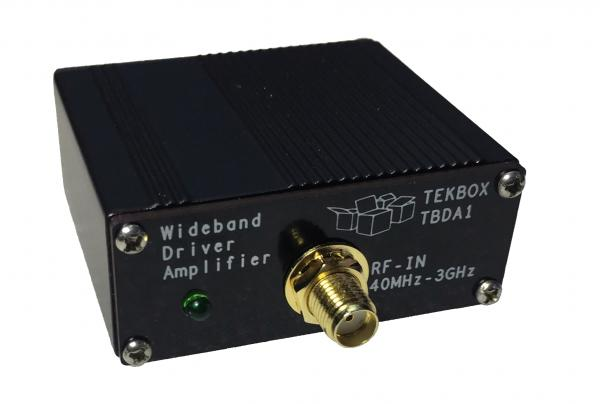 Plačiajuostis 14 dB 40 MHz – 3 GHz stiprintuvas