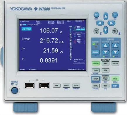 Galios analizatorius 1…3 kanalų, DC 0.5 Hz…100 kHz, 16bit, 100KS/sec, tikslumo klasė 0,1%