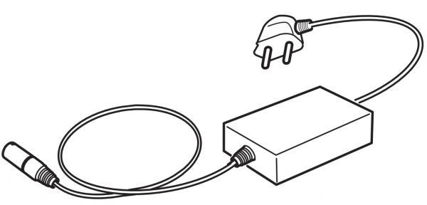 Skiriantysis adapteris AS-1, siųstuvo jungimui į tinklą su šveicarišku kištuku
