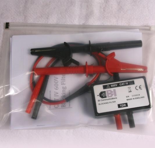 Įtampingų kabelių ilgio ir defekto vietos nustatymo TX6000 ir TX4000 grafiniais reflektometrais filtras