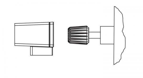 Apsauginiai permatomo plastiko DL3000 elektroninės apkrovos gnybtų gaubteliai