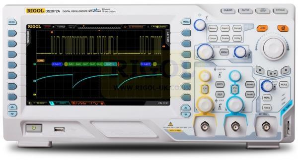 70 MHz, 2-jų kanalų, 2 GS/s skaitmeninis osciloskopas