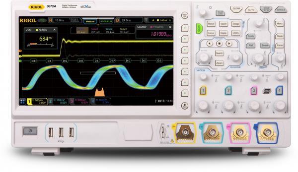 500MHz, 4-ių kanalų, 10 GS/s skaitmeninis osciloskopas