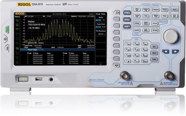 9kHz – 1,5GHz RD spektro analizatorius su pirminiu stiprintuvu ir skenuojančiu generatoriumi