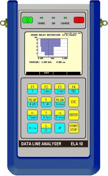 Skaitmeninių linijų analizatorius - 20 Hz - 20 kHz selektyvus/plačiajuostis lygio matuoklis ir generatorius su spektro analizatorium ir telefono simuliatorium - numerio rinkikliu balso kadrų testavimui vertinant komutuojamas ar skirtines linijas