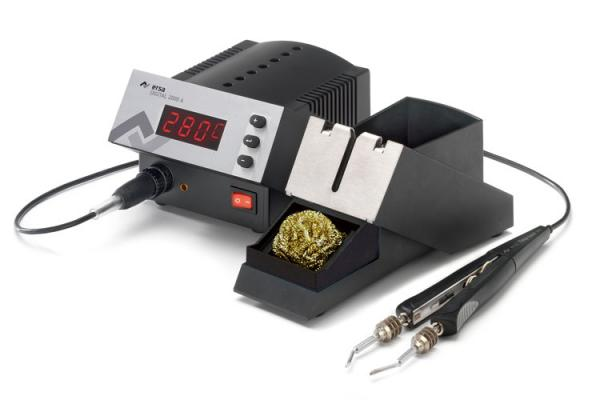 80W skaitmeninė visiškai antistatinė litavimo-išlitavimo stotelė DIGITAL 2000 A su (iš)litavimo pincetu CHIP TOOL