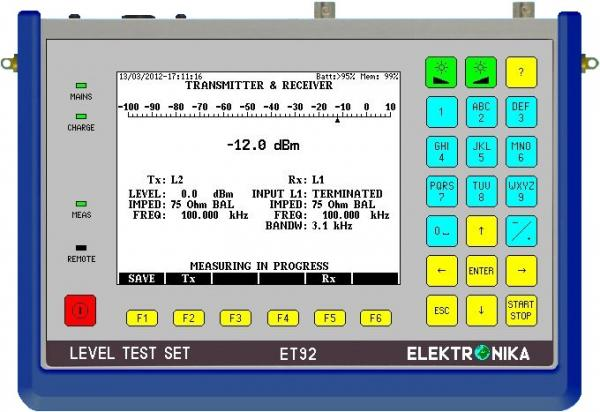 100 Hz - 6 MHz selektyvus/plačiajuostis lygio matuoklis ir generatorius su spektro analizatorium