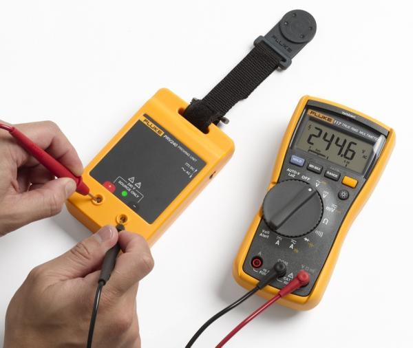 Elektros testerių ir pavojingos įtampos matuoklių patikros įrenginio ir 3,6 skaitmens elektriko True RMS Multimetro su nekontaktine įtampos indikacija rinkinys
