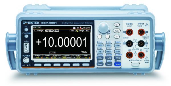 6,5 skaitmens (iki 1 200 000) du parametrus vienu metu matuojantis skaitmeninis multimetras su grafiniu ekranu ir GPIB sąsaja