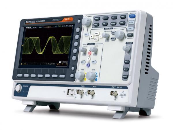 200MHz, 2-jų kanalų skaitmeninis osciloskopas, 1GS/s, atmintis 10Mtšk., sužadinimas pagal I2C, SPI, UART, CAN ar LIN signalų kombinacijas bei jų dekodavimas, WVGA 20,3cm ekranas