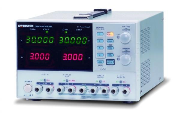 Keturių kanalų 200W programuojamas linijinis DC maitinimo šaltinis 30V, 3A x 2; 0~5V,0~3A arba 5~10V,0~1A; 0~5V,0~1A su USB sąsaja