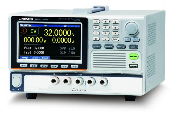 192W Vieno kanalo linijinis DC maitinimo šaltinis 32V, 6A su USB ir RS232 sąsajomis