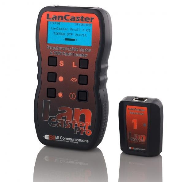 LAN kabelių testeris ir ilgio matuoklis su atstumo iki defekto nustatymu ir tono generatorium