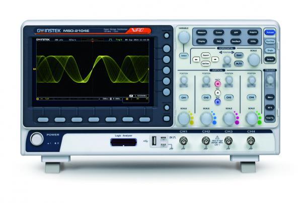 200MHz, 4-ių kanalų skaitmeninis osciloskopas, 1GS/s, atmintis 10Mtšk., su 16 kanalų loginiu analizatorium ir WVGA 20,3cm ekranu