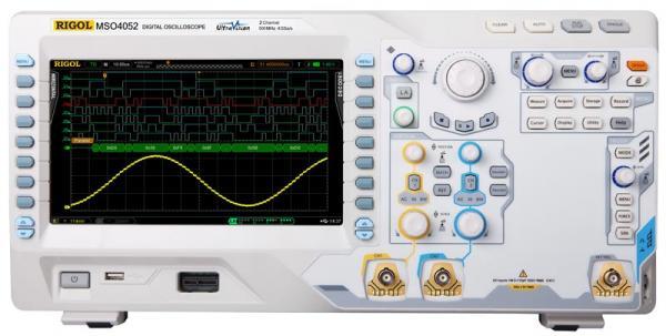 500 MHz, 2-jų kanalų, 4 GS/s skaitmeninis osciloskopas su 16 kanalų loginiu analizatoriumi