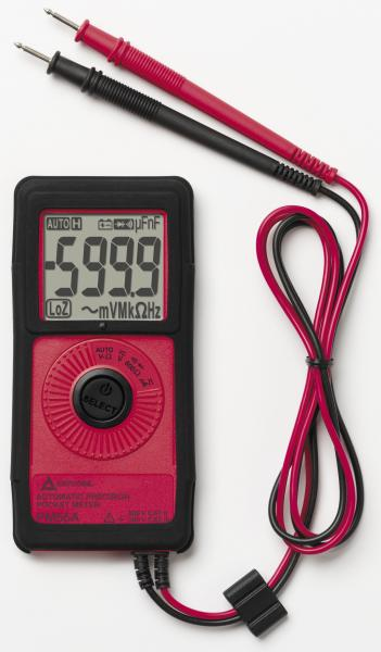 Pocket multimeter with non-contact voltage detection (VolTect™) and autom. function selection (AutoTect™)