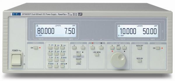 Dviejų kanalų 1200W PowerFlex DC maitinimo šaltinis 80V arba 50A su RS232/USB/LAN(LXI)/Analogine/GPIB sąsajomis