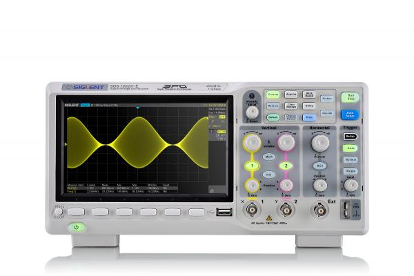 200MHz; 2 channels; 1GSa/s; 14M memory depth; 100,000wfm/s waveform capture rate; 7'' display(800*480 pixels); SPO technology
