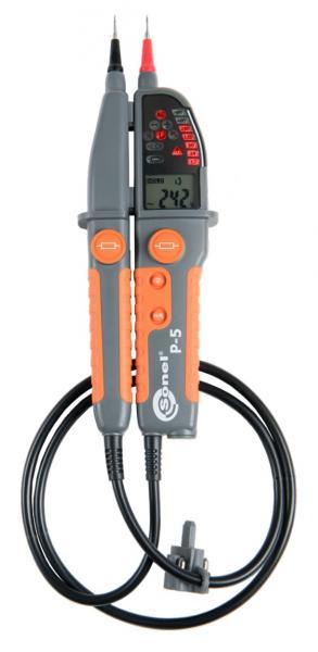 Įtampos iki 1000 V ir elektros grandinių testeris P-5 su varžos matavimo funkcija
