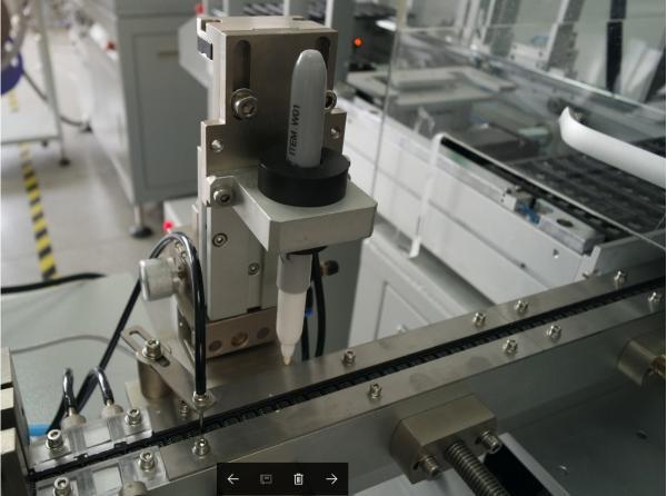 Komponentų žymeklis pakavimo į juostą įrenginiui