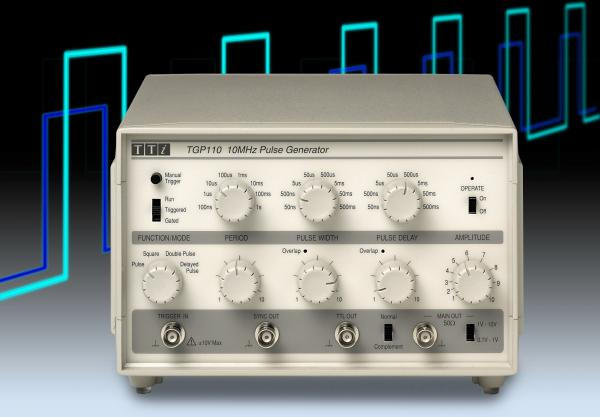 10MHz impulsų generatorius su vėlinimu
