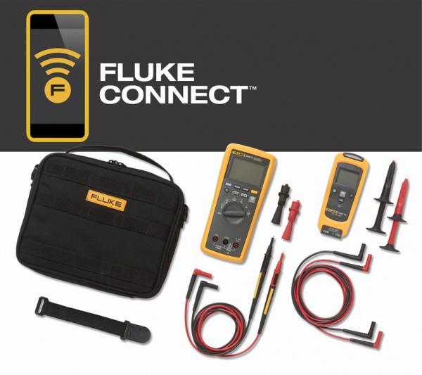 Nuoatinės DC įtampos matavimo modulio ir 3,6 skaitmens True RMS Multimetro su beviele Fluke Connect® sąsaja rinkinys