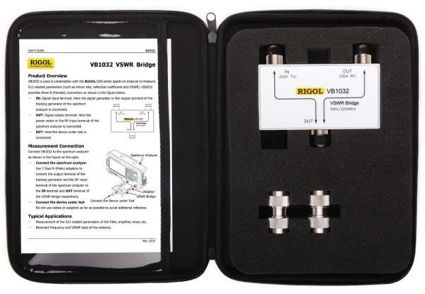 Tiltelis SBK (VSWR) matavimui dažnių ruože nuo 1MHz iki 3,2GHz su atspindžio koeficiento ir nuostolių bei SBK (VSWR) matavimo su DSA800 serijos spektro analizatoriumi parinktimi