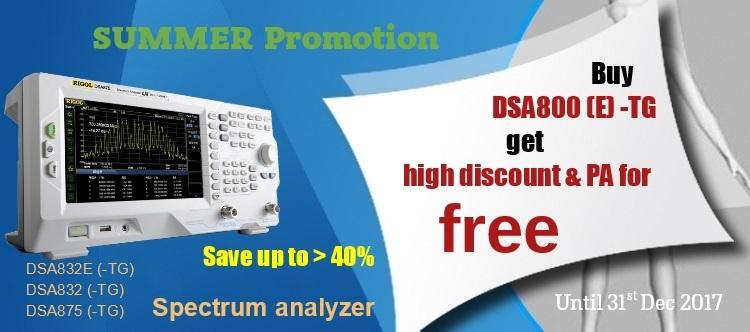 Slide baneris Rigol DSA800 promotion