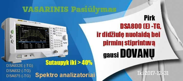 Slide baneris Rigol DSA800 promotion