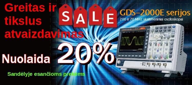 Slide Baneris GDS-2204E ir GDS-2072E -20 proc